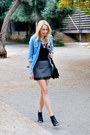 Light-blue-forever-21-shirt-charcoal-gray-zara-skirt-black-forever-21-heels