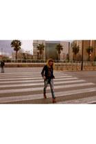 Sfera boots - Massimo Dutti jacket - Only shirt - desigual bag