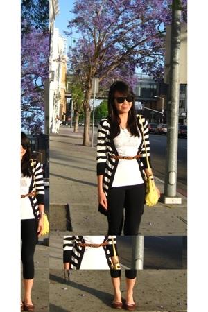 Forever21 accessories - thrift t-shirt - H&M leggings - Forever21 belt - Macys -