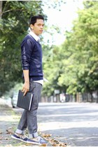 ambrogio sweater - Crocs shoes - Boss shirt