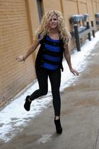 black American Apparel vest - blue BDG top - gray BDG jeans - black Steve Madden