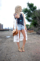 luluscom top - trask bag - BDG shorts - Call it Spring wedges
