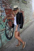 J Crew hat - Zara jacket - wink and winn bag - Athleta shorts