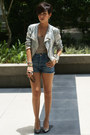 Light-pink-sequined-topshop-jacket-blue-high-waisted-topshop-shorts-heather-