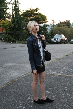 Urban Outfitters shoes - All Saints jacket - J Crew shirt - free people bag