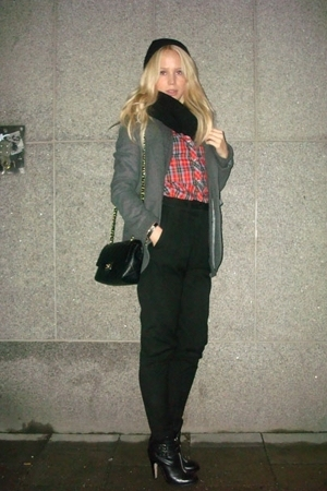 jacket - shirt - scarf - Chanel accessories - pants - shoes