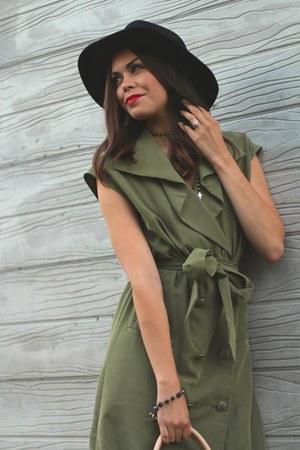 H&M hat - Steve Madden boots - rachel rachel roy dress - Chanel bag