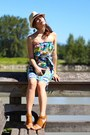 Poisonks-dress-forever-21-hat-chanel-purse-yoki-sandals
