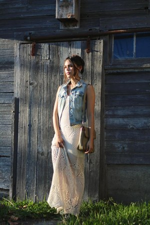 Prada purse - Report boots - Forever 21 dress - H&M vest