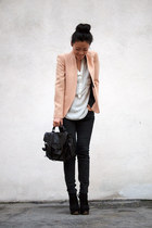 Zara blazer - Topshop boots - PROENZA SCHOULER bag