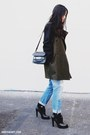 Sky-blue-zara-jeans-army-green-mango-jacket-black-proenza-schouler-bag