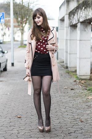 bubble gum BangGood coat - red BangGood shirt