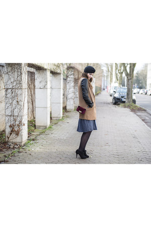 dark brown asos coat - black asos hat