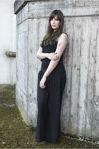 black evil twin top - black H&M skirt