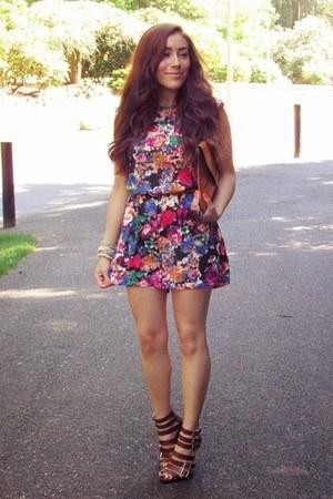 hot pink Sheinside jumper - brick red Charlotte Russe heels