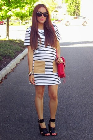 white shoplately dress - black f21 heels