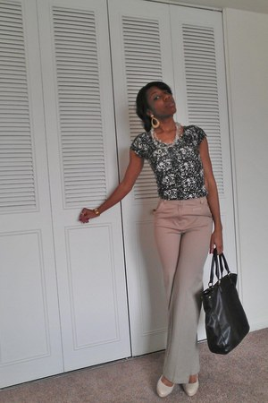 elle shoes - Charlotte Russe shirt - H&M pants - The Limited necklace