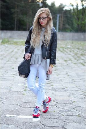 gray blouse blouse - adidas zx 700 sneakers