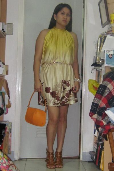 Mango dress - epi purse - f21 shoes