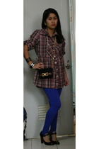 posh blouse - H&M bracelet - Chanel bracelet - vintage Ferragamo purse - Nine We