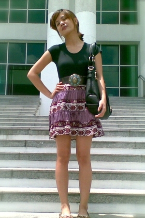 top - thrifted skirt - Charles &amp; Keith - CMG shoes - People are People belt