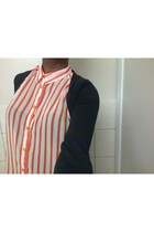 orange Innocence blouse - navy Forever 21 jeans
