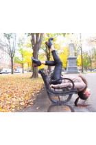 black H&M pants - black Jeffrey Campbell shoes - light brown H&M Trend cardigan