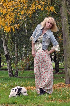black Pimkie boots - white floral maxi asos bought on eBay dress