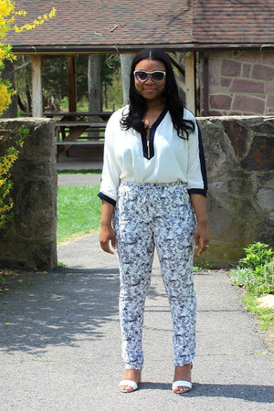 Zara shoes - floral H&M pants - Forever21 top