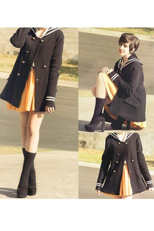 sailor coat - pumps - yellow Paper Heart skirt