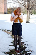 Forever 21 scarf - Forever 21 shirt - J Crew skirt