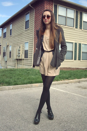 Forever 21 dress - Forever 21 jacket - Forever 21 sunglasses - Forever 21 cardig