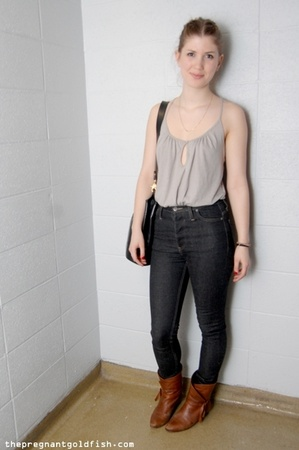 Lux top - Cheap Monday jeans - vintage shoes