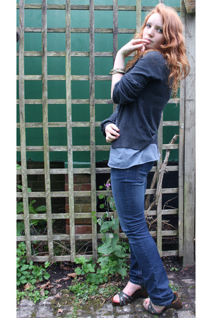 Miss Selfridge top - new look sweater - Dorothy Perkins jeans - debenhams collec
