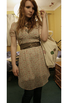 H&M dress - country casuals belt - kate sutton purse