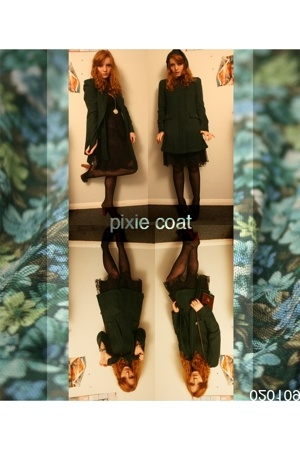 new look coat - Lipsy dress - Primark shoes
