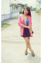 hot pink Mom blazer - bubble gum tassel necklace