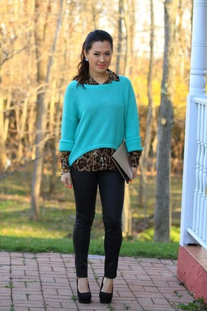 Forever21 sweater - diy purse - H&amp;M pants