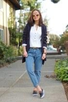 sperry shoes - Current Elliott jeans - Club Monaco jacket - free people shirt