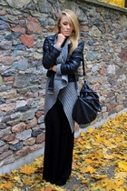 gray second hand sweater - black Cubus jacket - black second hand skirt