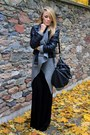 Black-cubus-jacket-gray-second-hand-sweater-black-second-hand-skirt