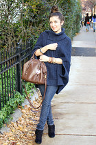 Michael Kors bag - Bakers boots - Forever21 jeans - Anthropologie sweater