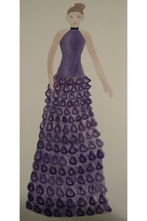 purple Olivia Anton dress