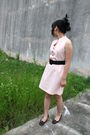 Pink-dress-black-belt