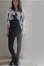 White-topshop-top-silver-american-apparel-skirt-black-boots