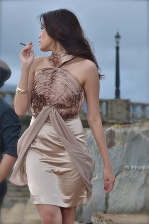 tan Richard Papa Couture dress