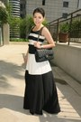 Black-barba-dress-black-caviar-chanel-bag