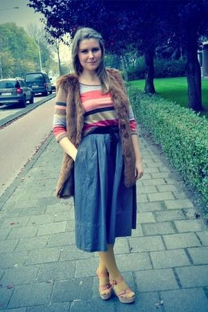 warehouse vest - H&M skirt