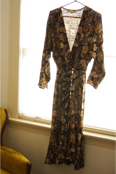brown vintage barbara barbara dress
