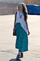 maxi skirt skirt - white tank top